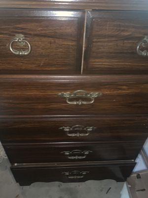 Vintage Cherry Oak bunk bed set with dresser (full size dresser). for Sale in Portland, OR