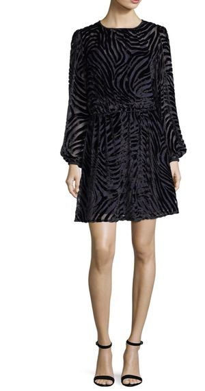 Michael Kors jacquard tiger print velvet dress for Sale in New York, NY