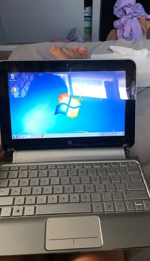 HP mini pink plaid laptop + charger + case for Sale in Santa Fe Springs, CA