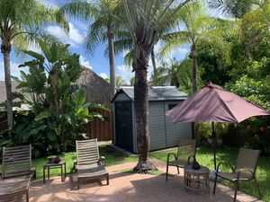 Pool and lawn furniture – free including the umbrella for Sale in Miami, FL
