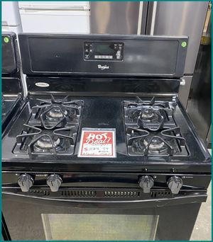Whirlpool Black Gas Stove #422 for Sale in Farmingdale, NY