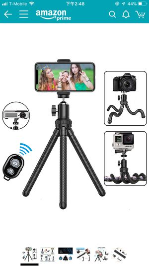 Phone Tripod,Shengsite Portable and Extendable Camera Tripod Stand with Wireless Remote 360°Rotating Adjustable Flexible Cell Phone Tripod Compatible for Sale in Palm Harbor, FL