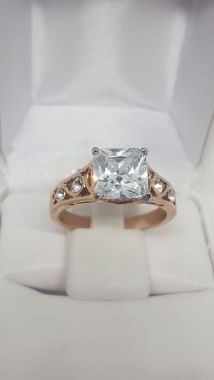 NWT. Size 10. Rose gold princess-cut wedding ring it. Never tarnish for Sale in St. Louis, MO