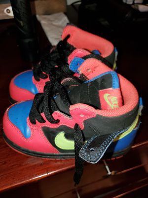 Nike swoosh old school toddler shoes 8c used once really for Sale in Mission Viejo, CA