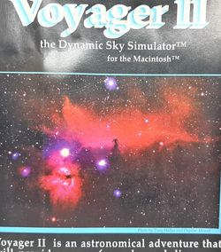Voyager II the Dynamic Sky Simulator CDROM by Carina Software for MAC 2.0 ~ 1994 for Sale in Stockton,  CA