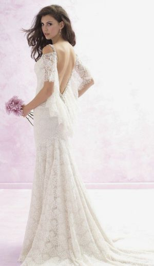 Madison James backless lace wedding dress for Sale in Homestead, FL
