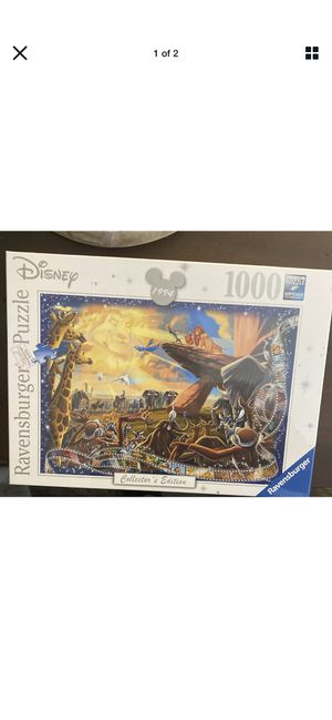 Ravensburger Disney Lion King Collector's Edition Jigsaw Puzzle - 1000 pieces for Sale in Columbus, OH
