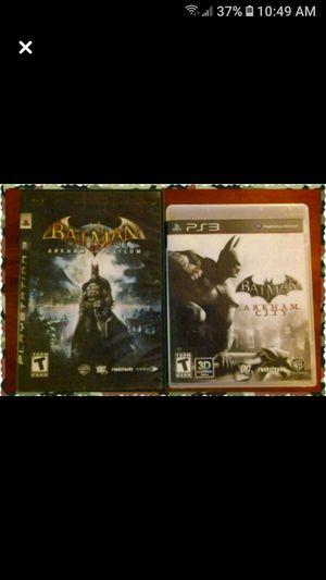(2) Batman PS3 games for Sale in Wichita, KS