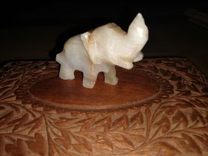 Miniature crystal quartz elephant for Sale in Spring, TX