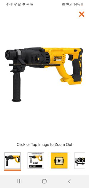 DEWALT 20-Volt MAX XR Lithium-Ion 1 in. Cordless SDS-Plus Brushless D-Handle Concrete & Masonry Rotary Hammer (Tool-Only) for Sale in Dumfries, VA