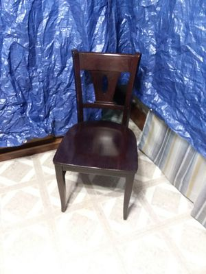 Dinninh room chair dark cherry all wood frame and seat for Sale in Berea, OH