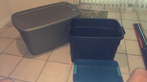 $25 for all 3 like new storage unit containers plastic Measurements in description for Sale in Rochester, MI