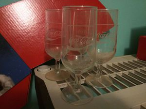 Coca cola wine glasses for Sale in Hiram, GA