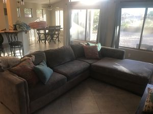 Couch with chase lounge. Pillows not included. Pick up east mesa. for Sale in Mesa, AZ