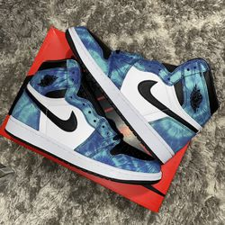 Jordan 1 Retro High Tie Dye Brand New Size 9 Men for Sale in Mount Rainier,  MD