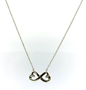 Tiffany & Co 925 Sterling Silver Double Loving Heart Infinity Necklace for Sale in McLean, VA