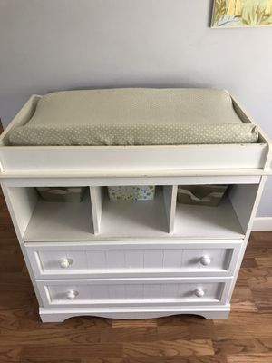 White Changing Table Dresser for Sale in Malden, MA