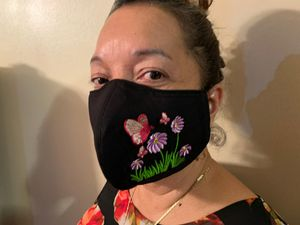 Embroided butterfly face mask for Sale in Peachtree Corners, GA