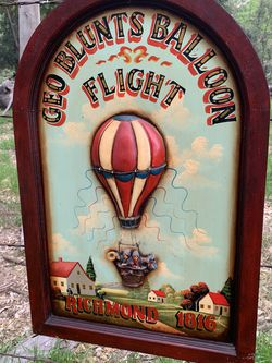 Wooden 3D Hot air Balloon Sign 1816 for Sale in Chino Hills,  CA
