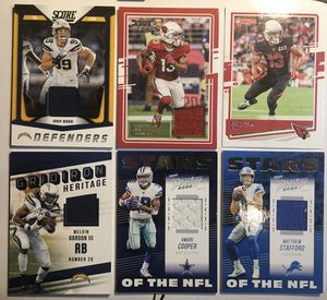🔥 2018- 2020 5 game worn Jersey cards Bosa, Cooper, Stafford, Gordon III, Kirk 🔥 for Sale in Franklin, IN