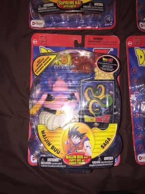 Dragon ball z maijin buu with puppy bee and cookie figure for Sale in El Paso, TX