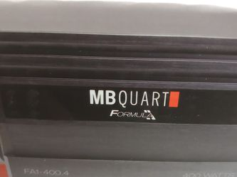 Car Amplifier : MB QUART 400 watts 4 channel Car Amplifier Built in crossover 20a×2 fuses for Sale in Downey,  CA