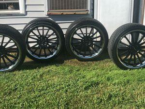 Black 20 inch Ruff rims for Sale in Baltimore, MD