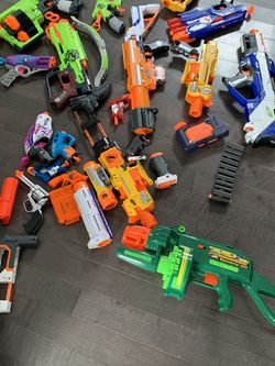 14 Nerf Guns And Accessories for Sale in Charlton,  MA