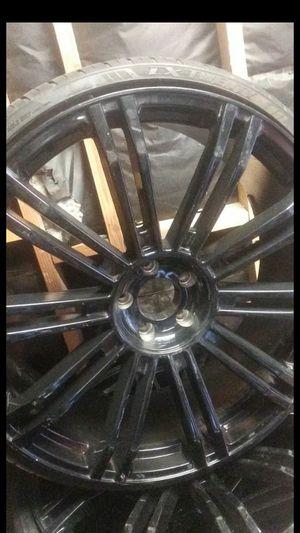 24 inch black rims for Sale in San Bernardino, CA