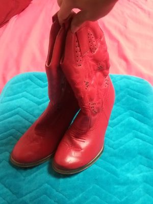 Girl red cow girl boots for Sale in Winter Haven, FL