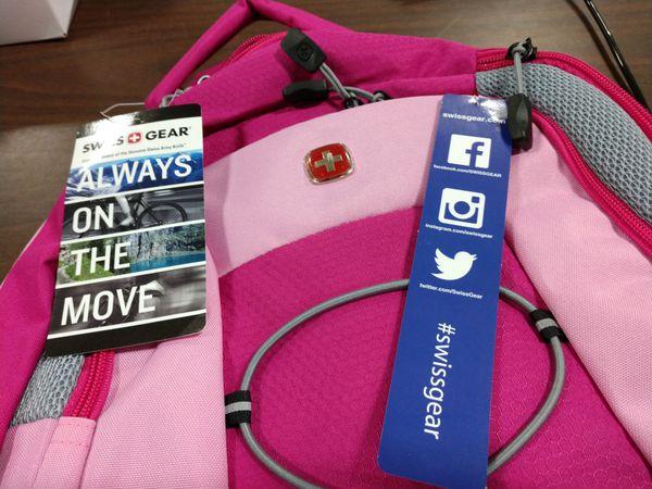 Swiss Gear Pink Backpack (DB)