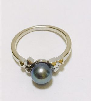 Mikimoto - 18k White Gold - Black Pearl Ring for Sale in Lorton, VA