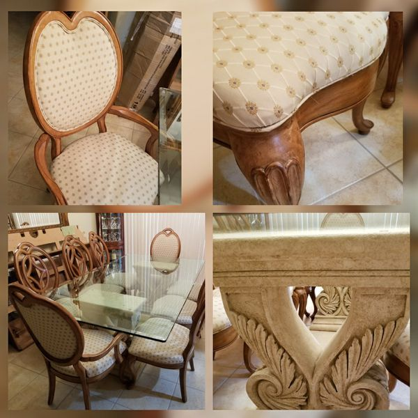 Dining Room table sits 8. Very good condition.