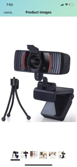 1080P Webcam with Microphone Privacy Cover,Tripod and Clip,USB 2.0 PC Laptop Desktop Web Camera Auto Light Correction for Video Call Study Online Cl for Sale in Brooklyn, NY