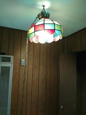 Vintage rainbow hanging lamp with switch for Sale in St. Louis, MO