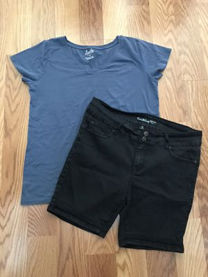 Ladies Women's Clothes Shirt & Jean Stretch Shorts for Sale in Spring, TX
