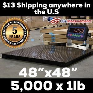 """48"""" x 48"""" Floor Scale 5,000 x 1lb $13.00 Delivery Anywhere I'm the U.S.A for Sale in Ontario, CA"""