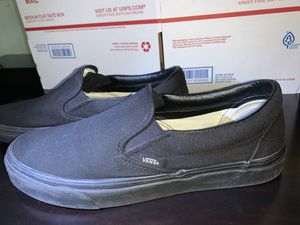 Black Canvas Vans Size 10 for Sale in Chicago, IL