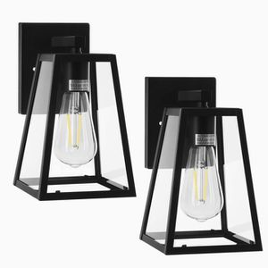 2 - LED Dusk to Dawn Sensor Outdoor Lantern, Exterior Wall Sconce Fixture Light, Garage Light, Porch Light for Sale in Ontario, CA