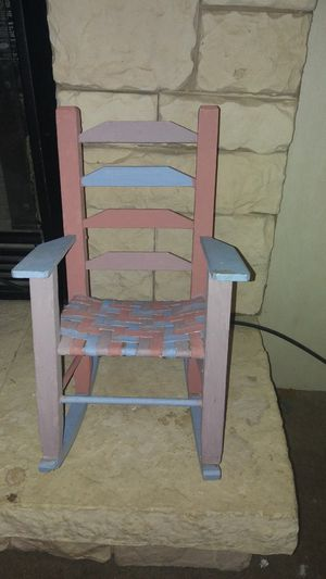 Handpainted doll chair very cute for Sale in Lubbock, TX