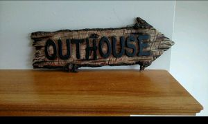 New western decor resin OUTHOUSE wall decor for Sale in Stow, OH