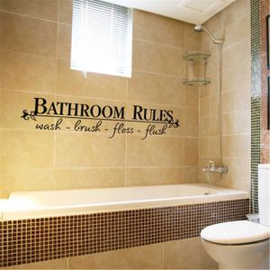 Bathroom Home Decor Decal Sticker Letter Funny Stickers Restroom Elegant Room Clear Transparent Floss Flush Fashion for Sale in New York, NY