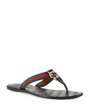 Black GG Thong Sandals for Sale in West Palm Beach, FL