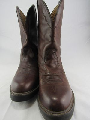 Twisted X Mens Brown Leather Oiled U Toe Cowboy Work Pull On Boots MCW0004 10EE for Sale in Fort Washington, MD