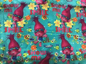 Trolls kids Cotton Fabric sold by the yard for Sale in Hesperia, CA