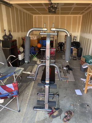 Open to all offers no low ballers Weirders weight bench Home gym machine brand new 10 20 30 and 50 pound bands for Sale in Las Vegas, NV