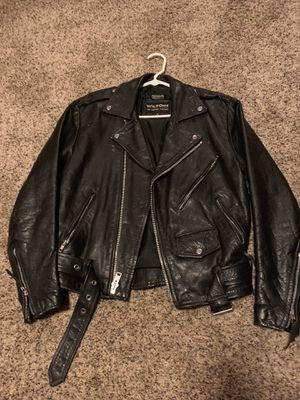 Leather motorcycle jacket men's size small. Thinsulate. for Sale in Boulder, CO