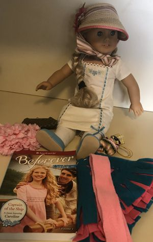 """AMERICAN GIRL DOLL CAROLINE 18"""" DOLL WITH ACCESSORIES for Sale in Newport Beach, CA"""