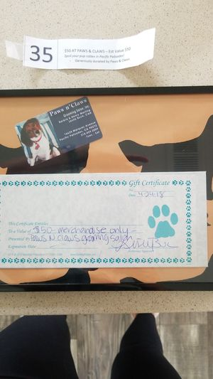 $50 grooming gift certificate for Sale for sale  Murrieta, CA