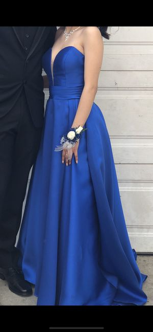 Royal blue prom dress off the shoulder for Sale in City of Industry, CA